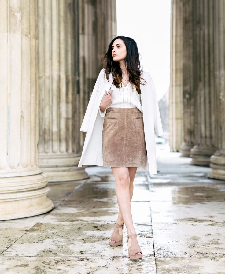 1.2.3 Paris - Merna du blog Merna Mariella porte la jupe Charlie, la blouse Alexane et le manteau Barnabe printemps-été 2016 #123paris #streetstyle #ootd #mode #fashion #shopping #blogueuse #blogger #blogueusemode #fashionblogger #printemps #spring #été #summer
