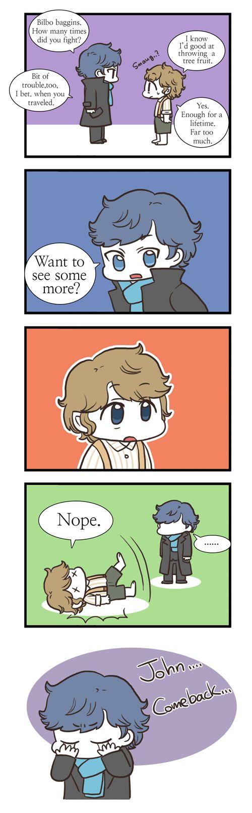 [CROSSOVER] Sherlock meet Bilbo by twosugars16.deviantart.com on @deviantART