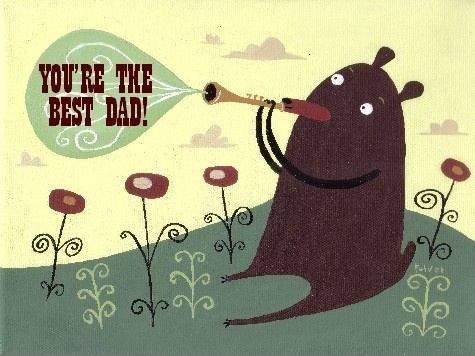 You're The Best Dad . Funny Bear Father's Day Art Card. $5.00, via Etsy.