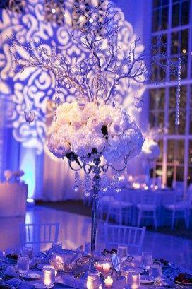 Spektakuläre Ideen für Hochzeitsdekorationen im Winterwunderland (1)   – Ashley wedding