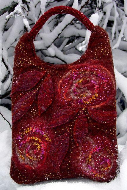 Marianne Seiman - felted purse