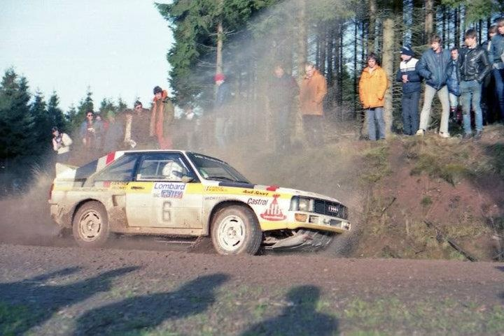 Michèle Mouton - Fabrizia Pons-33º Lombard RAC Rally 1984 (Gran Bretaña). Audi Quattro Sport. Clasificada 4ª.