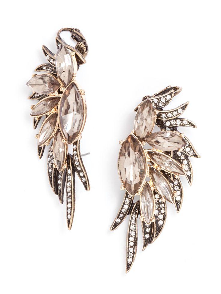Phoenix Wing Ear Cuffs-Gray Earring | BaubleBar