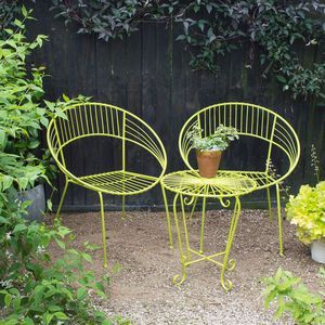 Retro Garden Bistro Set - garden furniture