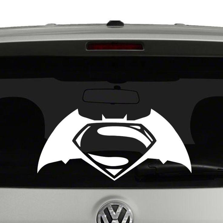 Superman vs. Batman Logo Vinyl Decal