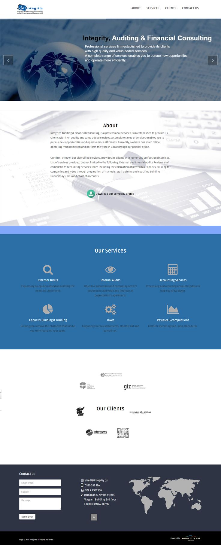 Web development and designing for a financial consulting company. From color palettes to interactive features, our team has worked to reflect the company's mission and vision #websites #webdesign #webdevelopment #design #web #trends #technology