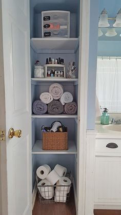 How to maximize your storage space with simple linen closet organizational ideas.
