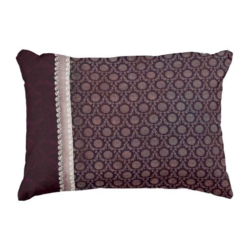 Burgundy Floral Medallion Accent Pillow Accent pillows, Floral and Burgundy