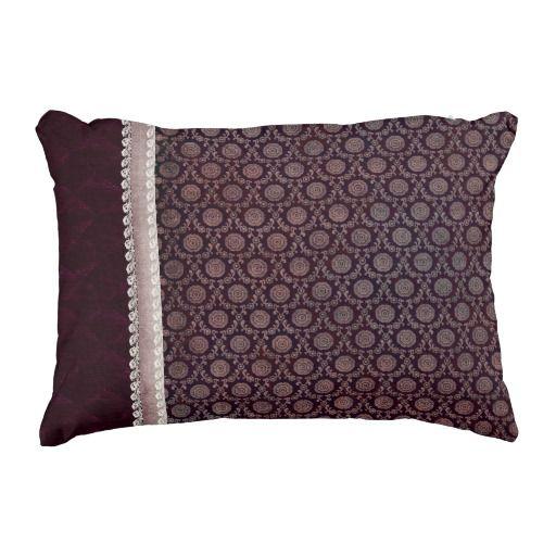 Burgundy Floral Throw Pillows : Burgundy Floral Medallion Accent Pillow Accent pillows, Floral and Burgundy