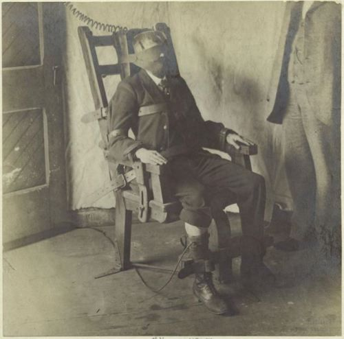 ca. 1908, [gentleman in electric chair]    via the New York Public Library, Picture Collection