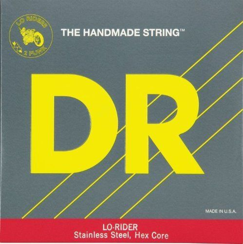 DR Strings Lo-Rider - Stainless Steel Hex Core 5 String Bass 40-120 by DR Strings. $31.43. Lo-Rider stainless steel bass strings are roundwound and constructed on a hexagonal core. They provide more depth of tone and are a bit stiffer than Hi-Beams. Bass players who are into slapping, popping, and tapping will love the high end and depth of Lo-Riders. The slight bit of stiffness makes these strings very accurate when playing harmonics. Great consistency and great string-to-str...