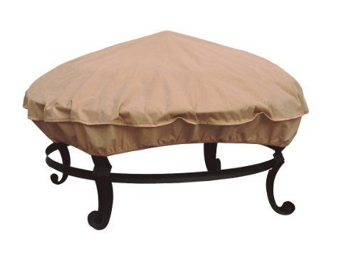 Modern Leisure Fire Pit Cover by Modern Leisure. Save 21 Off!. $11.84. 36-inch diameter, 4-inch high. Waterproof textured vinyl. Easy to clean with damp cloth. Great for patio coffee tables, patio ottomans, and fire rings. Textured polyethelyne film contains no pvc. Keep your patio fire pit out of sight and out of the elements when not in use. Can also be used for small tables, ottomans and other small outdoor furniture pieces.