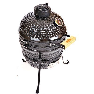 Kahuna Grills Charcoal Smoker & Grill Finish: Black