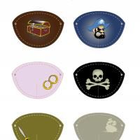 Printable Pirate Eye Patches - Printable Party Supplies - Misc Printables
