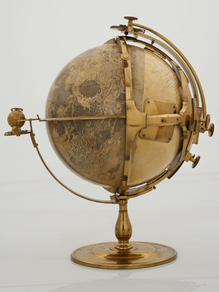 Moon globe was made by the artist John Russell in 1797.  British Library