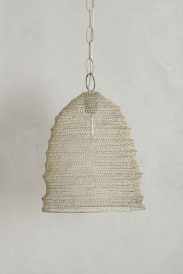 Mesh Beehive Pendant Lamp / Anthropologie