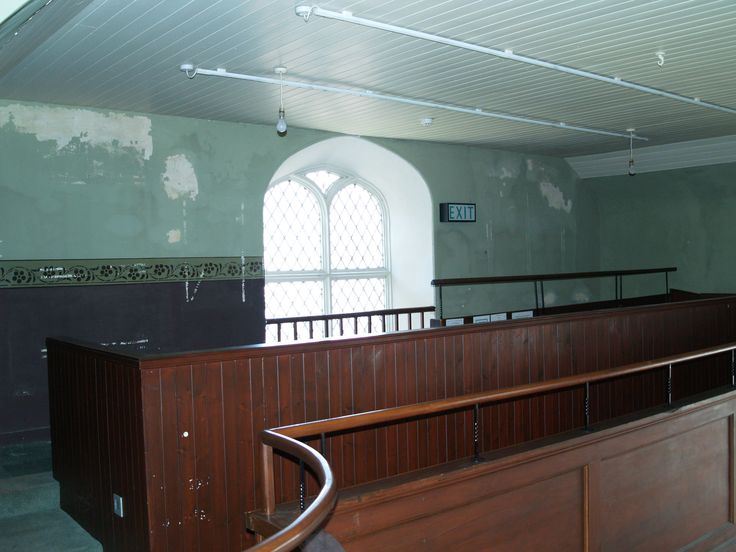 Part of gallery mid restoration