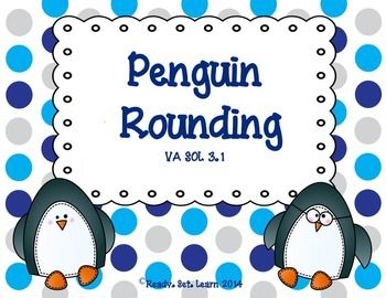 whimsical penguin rounding center that covers rounding to the nearest ...