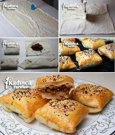 Milföy Tadında Mercimekli Yufka Böreği
