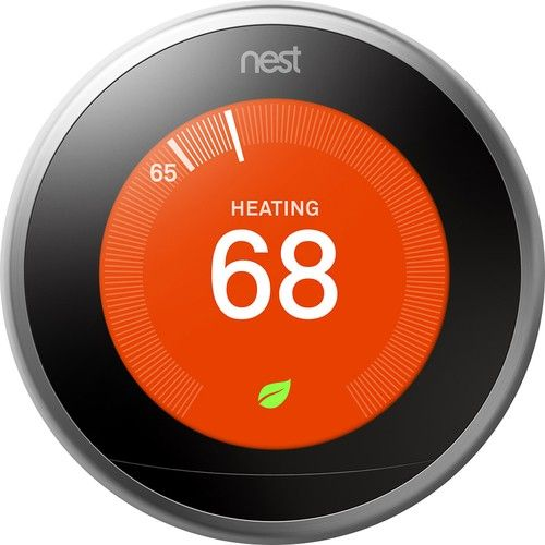Nest 3rd Generation Programmable Wi-Fi Learning Thermostat: Take control of your home's heating and cooling without lifting a finger with this thermostat, which learns your habits and adjusts to automatically regulate your home's temperature based on your schedule. The Nest Leaf feature alerts you when you choose a temperature that's energy efficient.