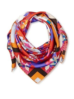 66% OFF KENZO Women's Kaleidoscope Printed Scarf, Coral Print