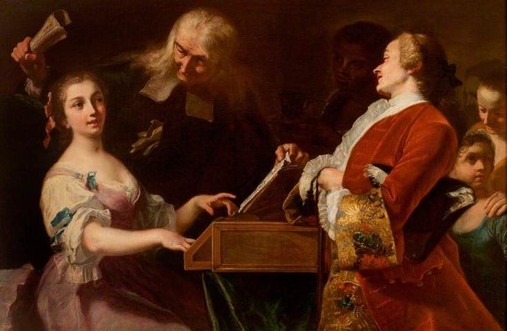 The Music Lesson · by Giuseppe Bonito