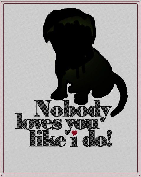 Nobody loves you like I do!: