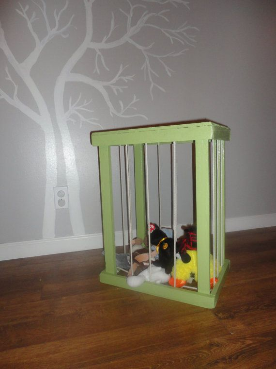 Stuffed Animal Storage Night Stand by ByFolks on Etsy, $18.00 What to do with the left overs from Jackie's broken bed.