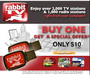 Rabbit TV USB Free Access to 2,000 Internet TV Channels