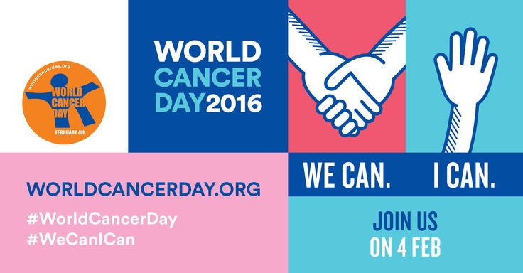 The 'We can. I can.' campaign explores how everyone – as a collective or as individuals – can do their part to reduce the global burden of cancer. This Saturday! Simply take your ball, racket, frisbee, skis, helmet, paddle, hand or whatever and write the World Cancer Day hashtag on it - #WeCanICan o Take a photo of you, your team or your club with the #WeCanICan hashtag o Sharing your photo on Facebook, Instagram and Twitter, including #WeCanICan and #WorldCancerDay in your post.