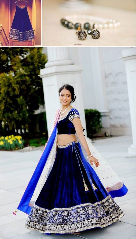Wedding Lehenga Color Trend 2014: Royal Blue