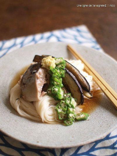 鯖缶と焼き茄子の七夕素麺。 by ささきのりこ。さん | レシピブログ ...
