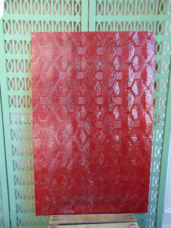Mid Century Plastic Panel Replacement for Divider Wall