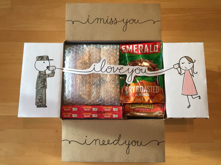"""""""I Love You"""" Care Package. I miss you, I love you, I need you care package"""