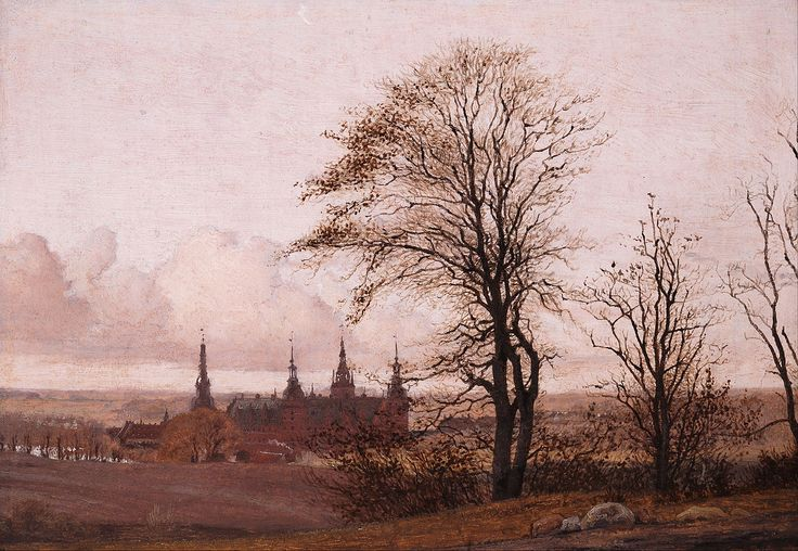Autumn Landscape. Frederiksborg Castle in the Middle Distance by Christen Købke (Danish 1810-1848)