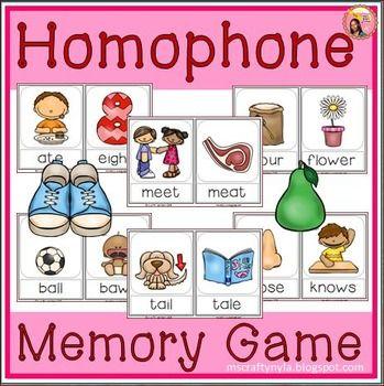 Homophone Memory Game #esl $