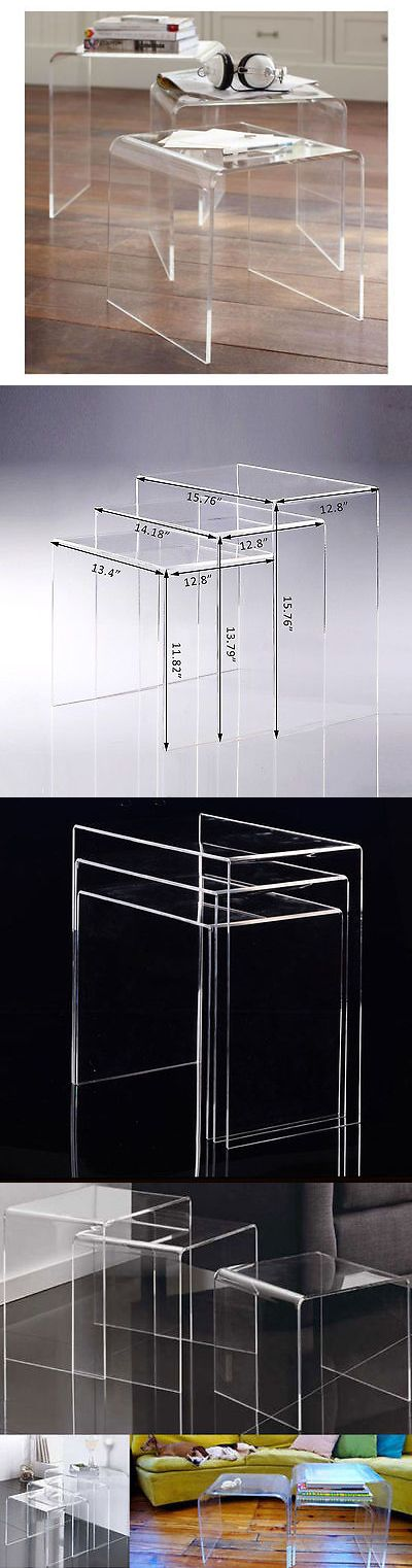 Tables 38204: Modern Acrylic Nesting End Table Coffee Table 3Pc Lucite Side Home -> BUY IT NOW ONLY: $89.99 on eBay!
