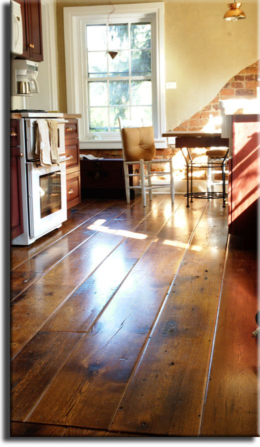 #Antique Oak #flooring with worn edge for a unique aged appearance - made from reclaimed Oak barn boards by Appalachian Woods