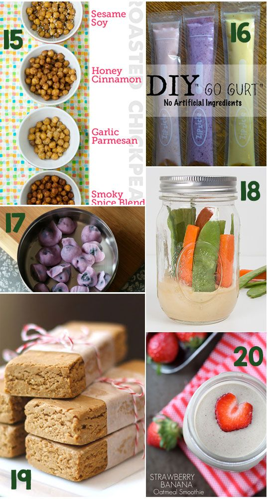 20 Healthy Snacks to Keep You Moving!