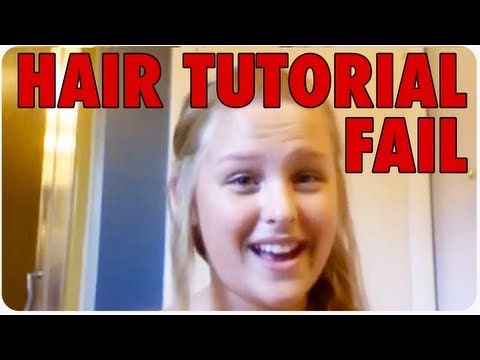Girl BURNS Hair with Curling Iron | Webcam Hair Tutorial Fail  Funny