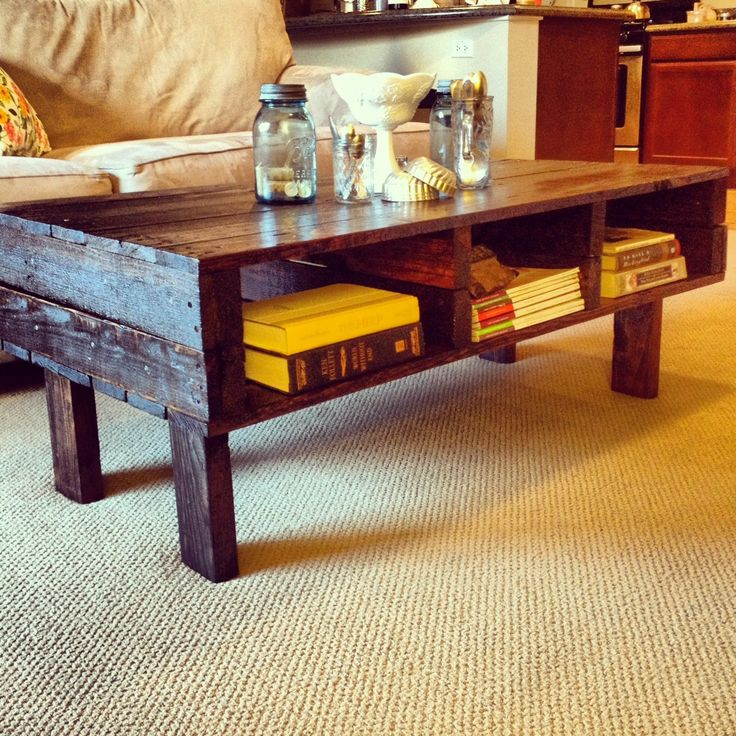 Rustic Wood Coffee Table Plans: Rustic Pallet Coffee Table... FREE SHIPPING UNTIL Jan. 26