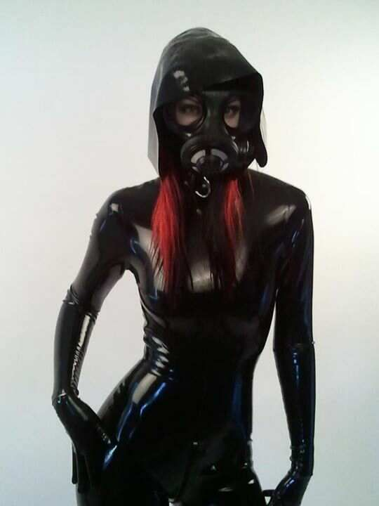 gas heavy latex mask rubber