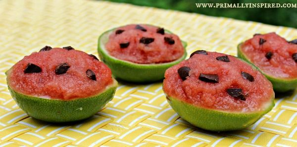 Watermelon Lime Sorbet and Ice Cups | Primally Inspired