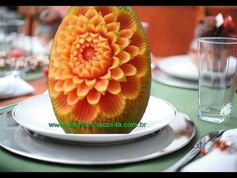 Lesson 2, Carving, การแกะสลักผลไม้, 水果雕刻, Ukiran buah, 果物のカービング, Khắc trái cây, naik ukiran, 조각 장미 - YouTube