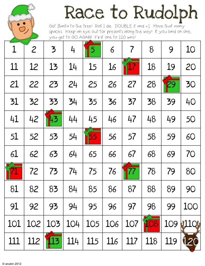 Rulin' The Roost: Christmas Math Games-Freebie