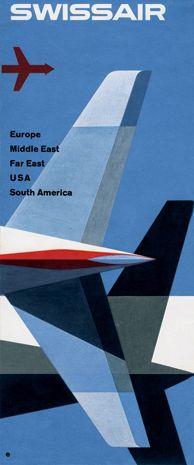 Swissair / Kurt Wirth. I saw an exhibition of airways art at Belgrade airport last year