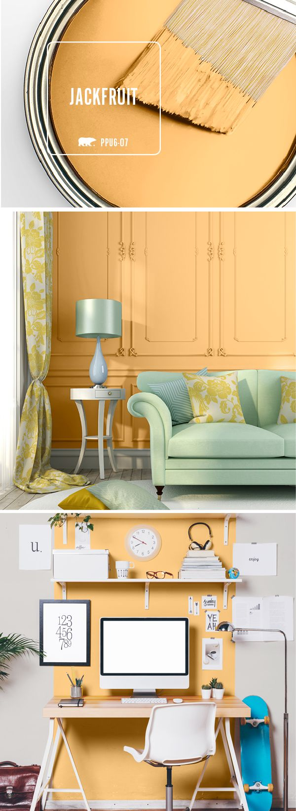 196 best Colorful Rooms and Spaces images on Pinterest | Behr paint ...