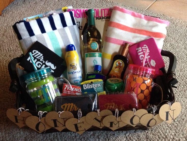 Hawaiian Wedding Gift Ideas: Honeymoon Gift Basket. Made This For My Cousin, She Loved