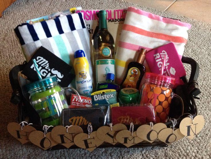 Wedding Gift Honeymoon: Honeymoon Gift Basket. Made This For My Cousin, She Loved