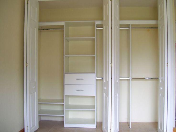 Closet de pared sin puertas buscar con google for Modelos de zapateras para closets